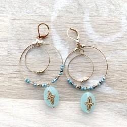 Boucles d'oreilles bleues...