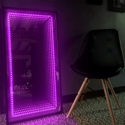 Miroir lumineux leds infini