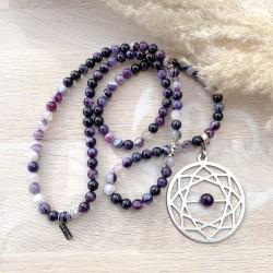 Sautoir violet bouddha