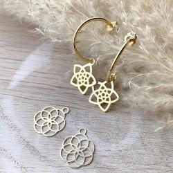 Boucles d'oreilles dorées duo