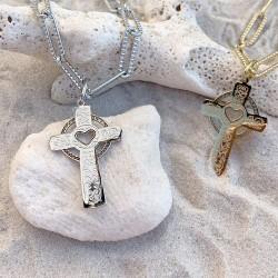Chaîne Croix décorée