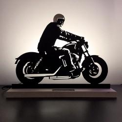 Lampe Moto esprit Harley...