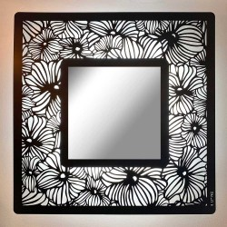 Miroir carré lumineux Flowers