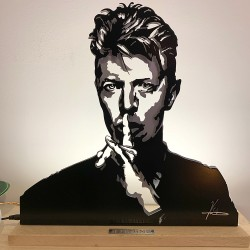 Lampe portrait David Bowie